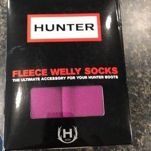New in Box Hunter szM(szF 5-7) violet Welly Socks